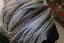 Hair style / grey hair style