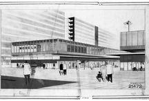 Dibuixos i perspectives d'urbanisme