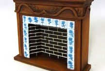 Miniature Fireplaces & Fires / Dolls house fires, fireplaces, fire surrounds, fireplace tools