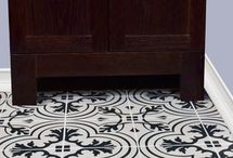 Bathroom floor tile edwina