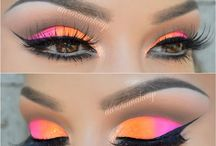 Neon makeup inspiration / This is a board of inspirational images of neon makeup which is on trend for spring/summer 2017