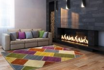 TAPPETI DECORATIVI / Idee per decorare la casa con tappeti.
