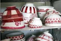 French Cafe au lait bowls / Colorful and highly collectibles, the cafe au lait bowls add a touch of French country to every home.