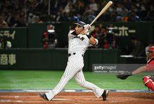ニュース写真 : Infielder Sho Nakata of Japan hits a two run...