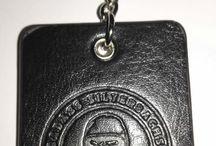 Branded Leather Keyrings