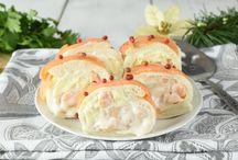 Girelle di gamberetti e salmone senza maionese
