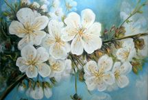 SPRING / paintings oil on canvas, by Aurora Lunic