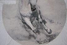haft krzyżykowy - koń - Horse cross stitch