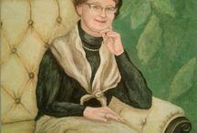 Felicja Musioł-Kozielska-portraits, portrety kobiet  mężczyzn, artist, art, / portraits, portrety, artist, art,