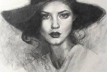 Retratos / Desenhos, pinturas e fotografias de retratos.