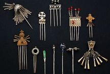African antique hair pin