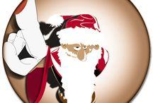 Un peu de déco pour Noël ? / Tableaux, papiers peints, trompes l'œil, brises vues, quelques idées pour une déco éphémère de fin d'année.