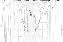 эскизы штор