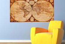 Wall Maps / Mappe antiche da appendere alle pareti di casa, studio, ufficio... perfette per gli amanti del genere!