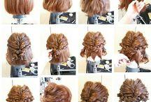 Kort oppsatt hår