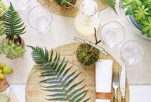 Tischdeko | DIYs und Inspiration / Inspiration und Kreativideen für schicke Tischdeko zum Selbermachen. DIY Ideen für jeden Anlass. Dekorieren mit Pflanzen, Papier, Holz, Stoff u.v.m. für Geburtstage, Hochzeiten, Mottoparties, Feiertage usw.