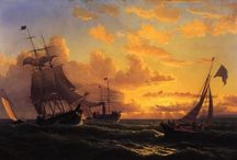 William Bradford (1823 -1892) / William Bradford (April 30, 1823 – April 25, 1892) was an American romanticist painter, photographer and explorer, originally from Fairhaven, Massachusetts, near New Bedford. His early work focused on portraits of the many ships in New Bedford Harbor. In 1858, his painting New Bedford Harbor at Sunset was included in Albert Bierstadt's landmark New Bedford Art Exhibition.