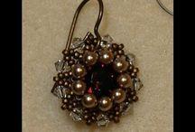 beadede earrings vintage style