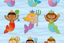 mermaids  / by Rebecca Whitman