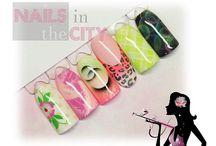 Airbrush nail art Carol / Décorations réalisées à l'airbrush,