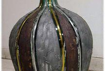 Jarrones cristal decorados
