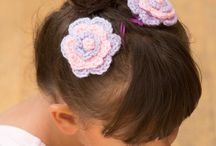 flowers crochet hair adornments