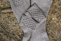 Knitted socks, slippers etc