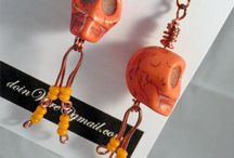 doinWire-Halloween-Jewellery / Images of my doinWire handcrafted copper wire jewellery - it's a little bit different. Halloween, skulls, skully bones, skeletons.