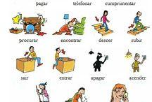PORTUGUÊS: Vocabulário / Aqui encontraréis pins para aumentar el vocabulario del Portugués.