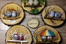 Obrázky na drevené