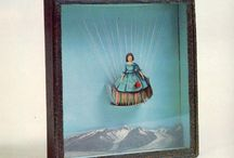 "Joseph Cornell / ""Wonder rooms"", gabinety osobliwosci, collages, which are tangible and inspiring - why not make a poster this way???"
