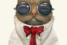 Cat Art / by Krista Irene