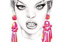 Fashion illustration  by minaK / illustration, digital art, fashion illust