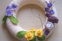 crochet flower wreaths