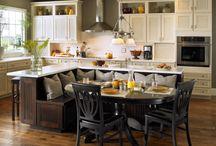 keuken med hoekbank