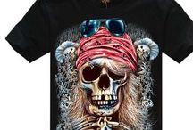 Skulls Graphic Tee shirts / Skulls!!! We love skull tee shirts!! #vintage #skulls #tee #teeshirts #shirts #biker #gothic