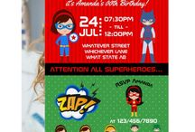 Superhero Themed Birthday Party Suite