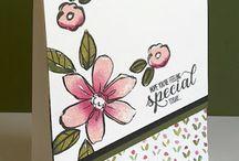 Garden in bloom stamp
