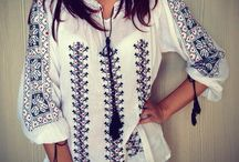 Traditional handmade Romanian blouse called IE