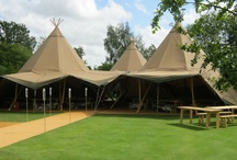 Stunning Tipis / These photos shown you just why the tipis are so popular - they are unique, novel and a bit different to the traditional venues like hotels and marquees. Daytime and evening the tipis will WOW your guests and create a stunning backdrop for your special event