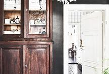 siyah beyaz ahşap mutfak
