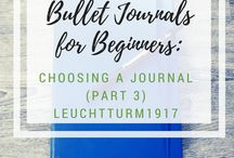 Bullet Journals / All things Bullet Journal - layouts, page design, pens, journals