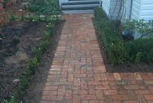 brick paving path