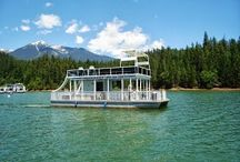 Trinity Lake Resort and Marinas / As a concessionaire for the U.S. Forest Service, Forever Resorts offers houseboat and small boat rentals, rental cabins and Timbers seasonal restaurant on Trinity Lake