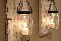 iluminacao , madeira e velas