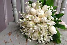 svatba tulipány konvalinky