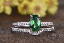 Tsavorite engagement rings