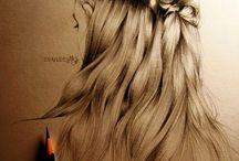 Haare und die KUNST / Die schönsten Zeichnungen von Haaren & Frisuren - Ich bin immer wieder begeistert von diesem Talent und diesen Kunstwerken