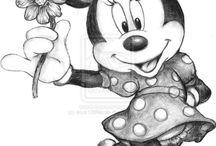 Minnie ès Mickey / Rajzfilszereplők