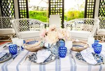 Blue + White / Traditional meets modern in this eclectic and vibrant mix of blue and white. Timeless - Artistic - Historical - Classic / by Two's Company